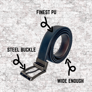Infojerk Lifestyle – Reversible Belts for Men – Black|Brown