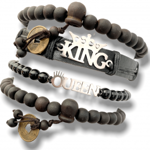 Infojerk Lifestyle – Set of 4 – Hand Bands/Bracelets for Couple - Black